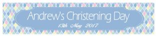 Blue Diamond Christening Banner